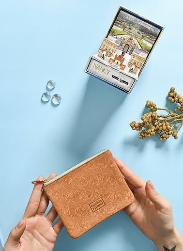 Leather & Paper Deri Mini Çanta Taba